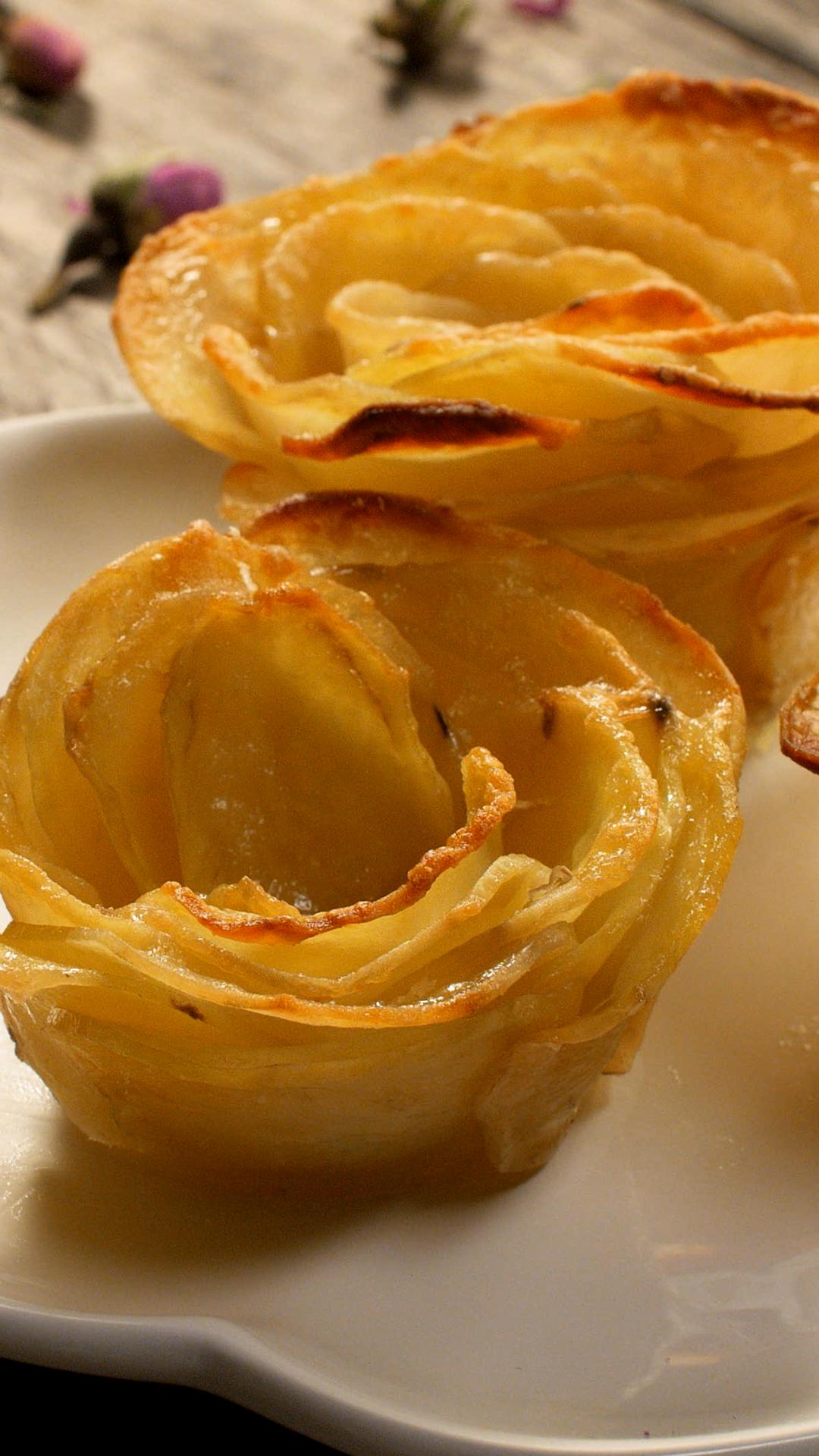 Gratin de pommes de terre en rose