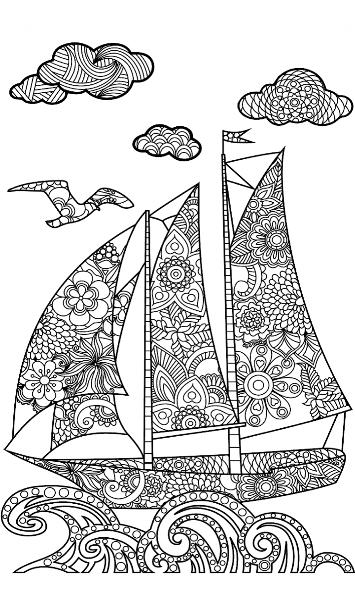 Nautical classroom coloring pages | 1208x720