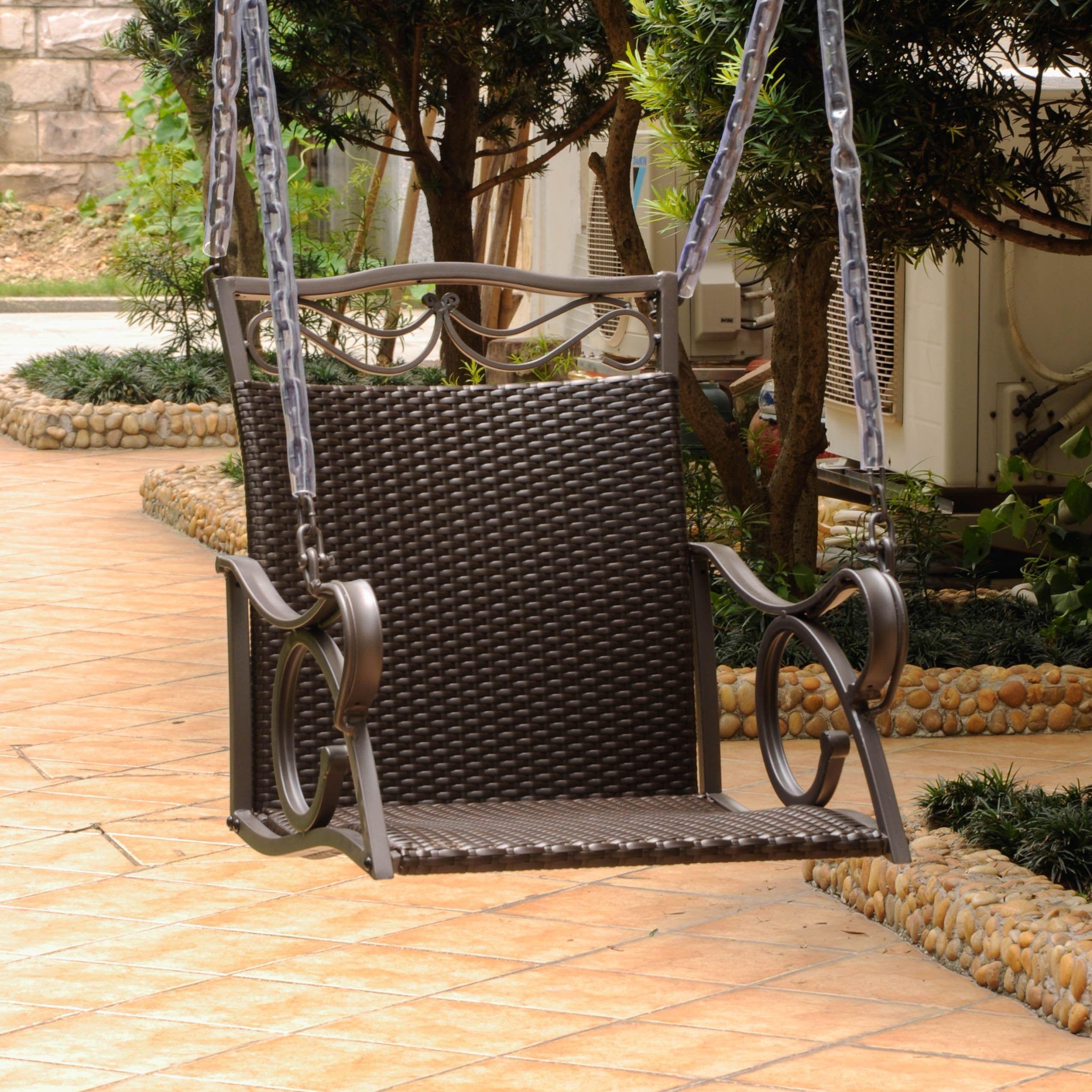 international caravan valencia resin wicker steel frame hanging