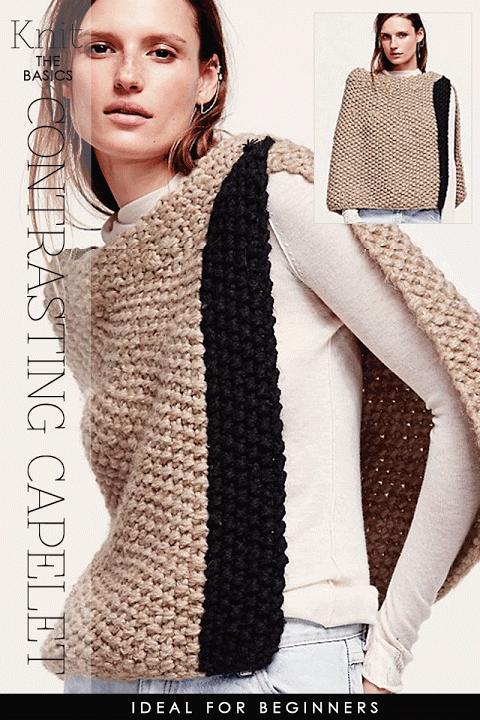 Needlecrafts Knitcrochet Rectangle Ponchos Textured Knit Poncho