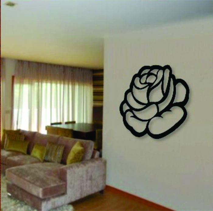 Quadro Em Escultura De Mdf Vazado Florais Rosa N 176 19