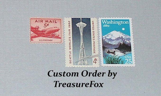 Reserved Custom Order For Crystal Unused Vintage Us Postage Stamps