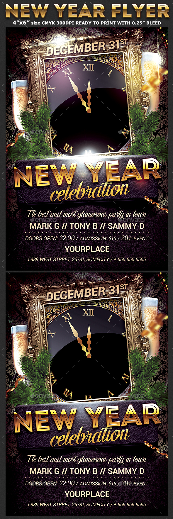 New Year Party Flyer Template  Party Flyer Flyer Template And