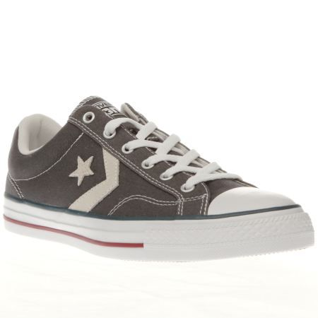 mens converse grey star player re-mastered trainers
