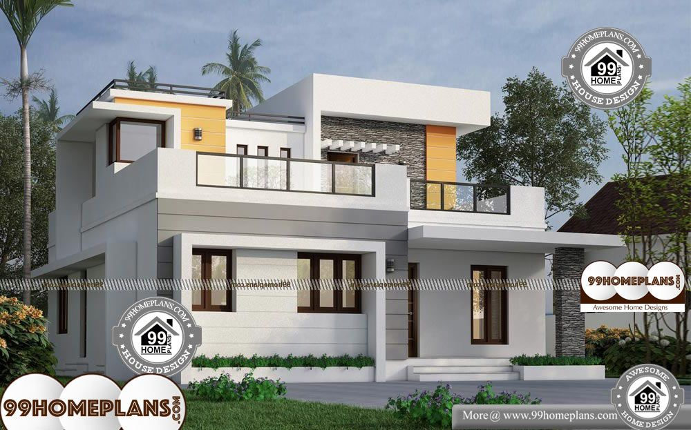 35 X 40 House Plans 2 Story 1600 Sqft Home 35 X 40 House Plans Double Storied Cute 3 Bedroom Hous Simple House Design Simple House Modern Style House Plans