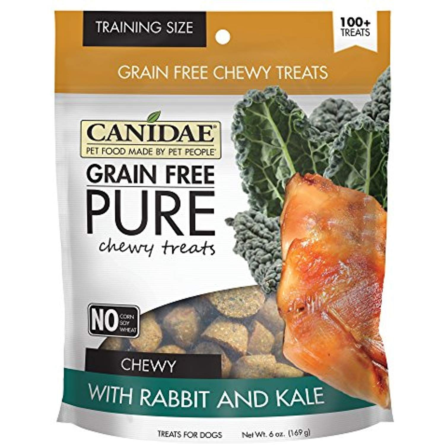 Canidae grain free pure chewy dog treats with rabbit dogs