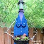 Ironing board woman garden art project #gartenrecycling