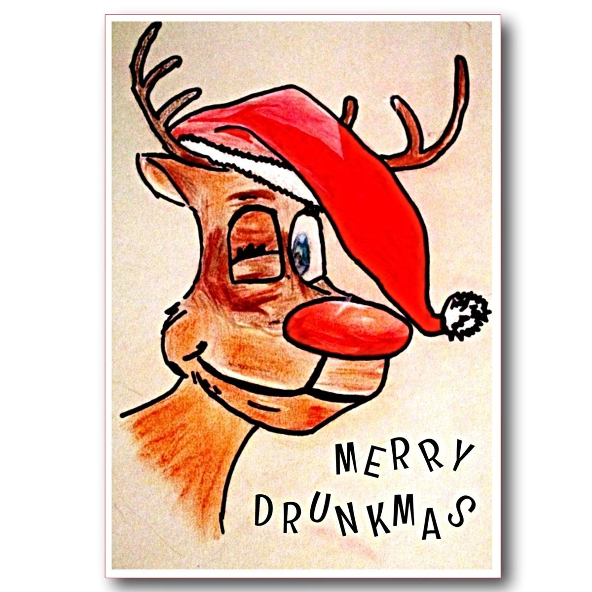 Funny Christmas Card, Merry Drunkmas. in 2020 Funny
