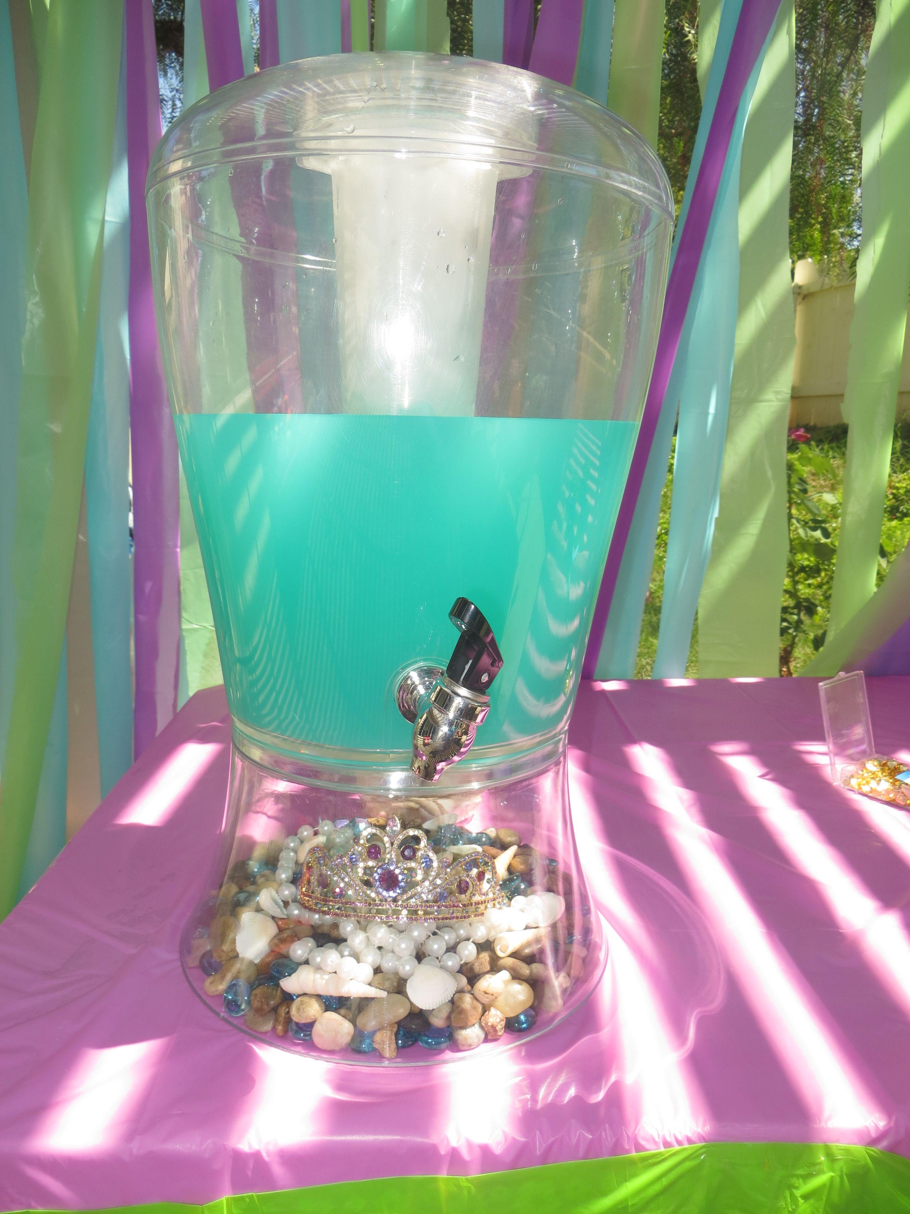 Little Mermaid Drink Station Little Mermaid Pinterest Mermaid