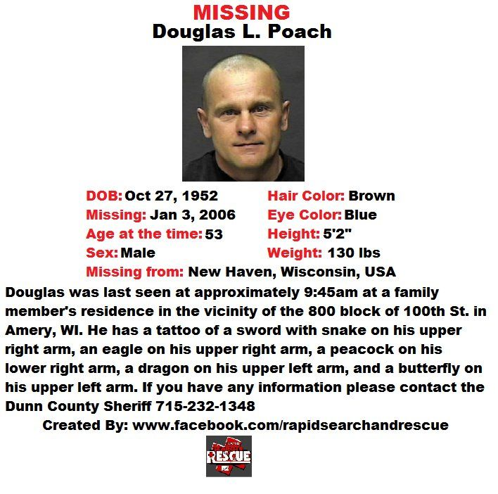 Current Missing Person flyers from Wisconsin in the 2000s To assist