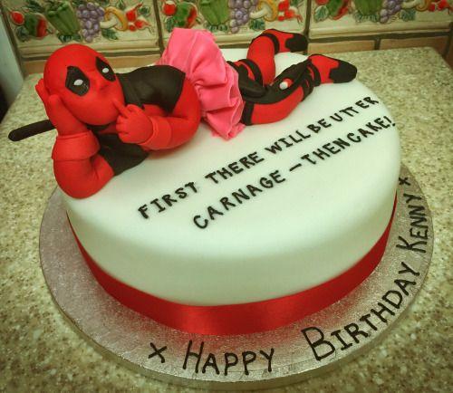 superheroes cake Tumblr Deadpool Pinterest Superheroes Cake