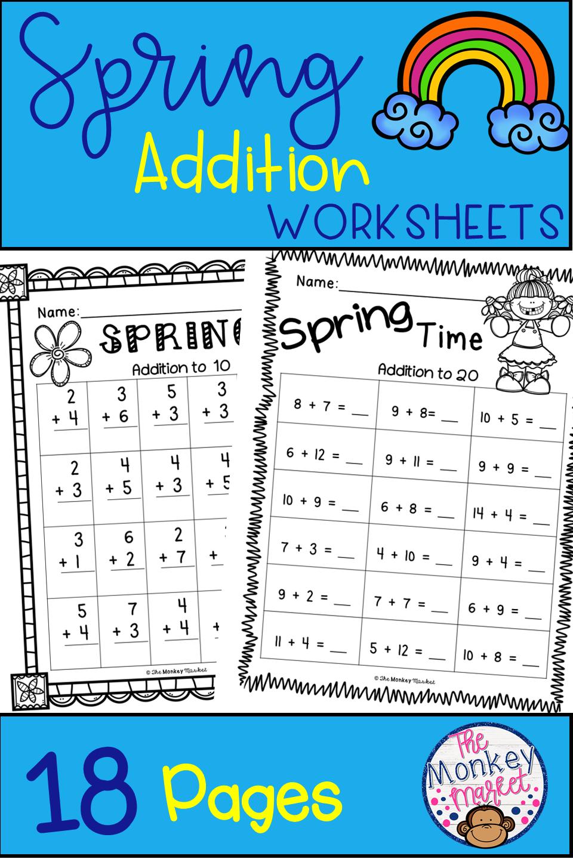 Spring Addition First Grade Math Worksheets Spring Addition First Grade Lessons [ 1440 x 960 Pixel ]