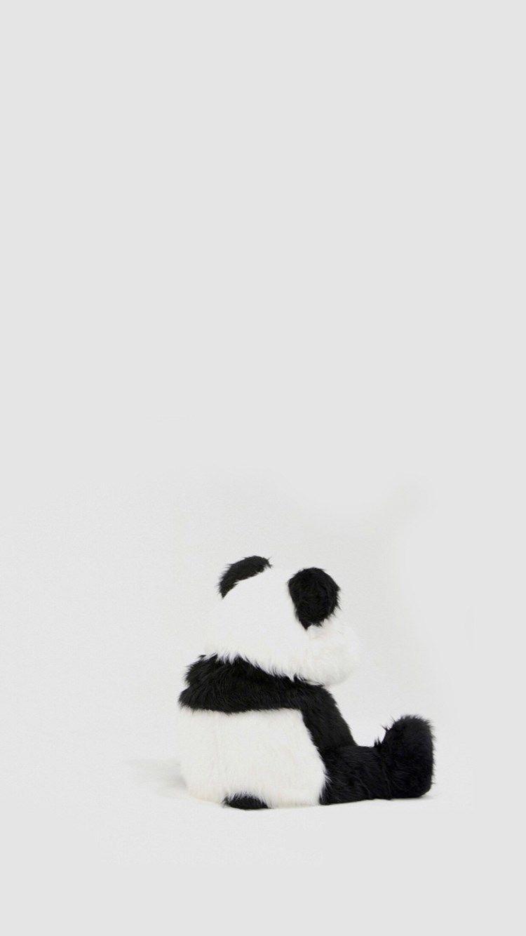 Minimal Simple Panda Back iPhone 6 plus wallpaper