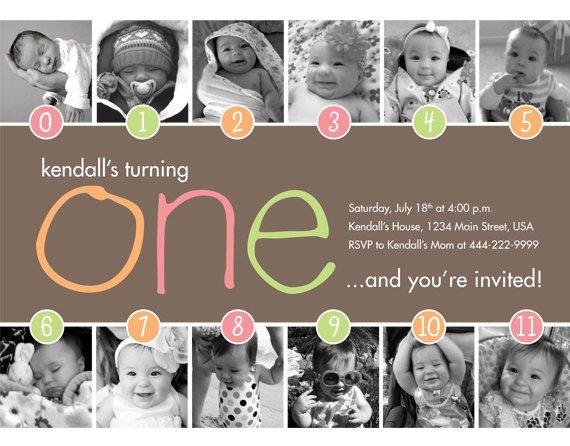Timeline 1st Birthday Invitation Boy Or Girl Digital File 15