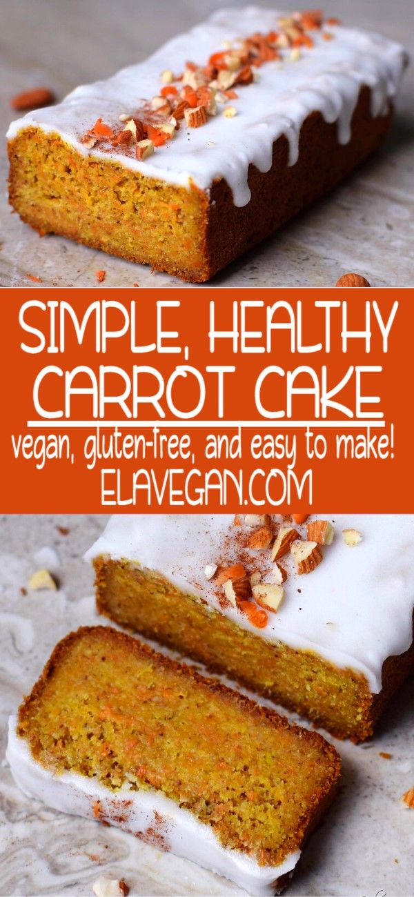 Vegan Gluten-Free Carrot Cake #sugarfree