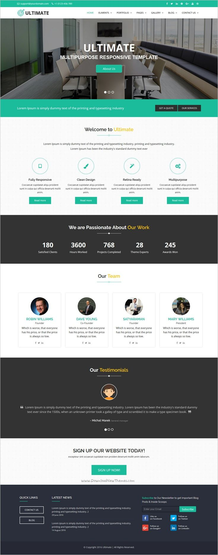 Ultimate is a professional multipurpose #bootstrap template for ...