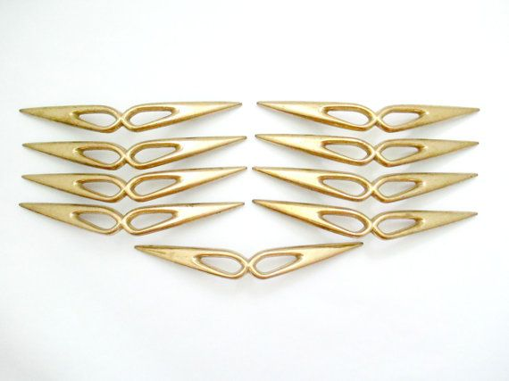 Lot Of 9 Vintage Mid Century Modern Drawer Pulls 3 5 By Fairyhome