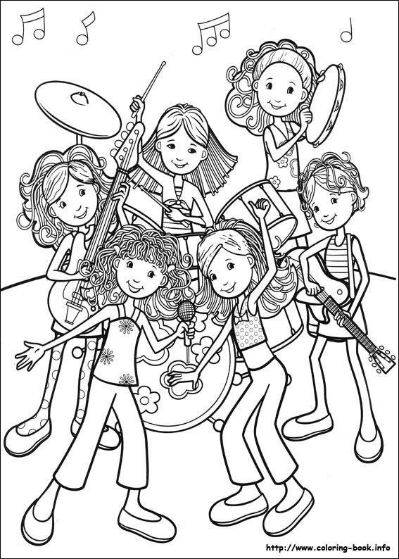 Groovy Girls coloring picture Imprimibles BlancoNegro Pinterest