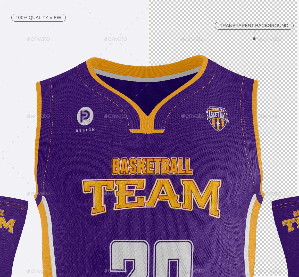 Download Men's Full Basketball Kit Wishbone Collar Jersey Mock up ...