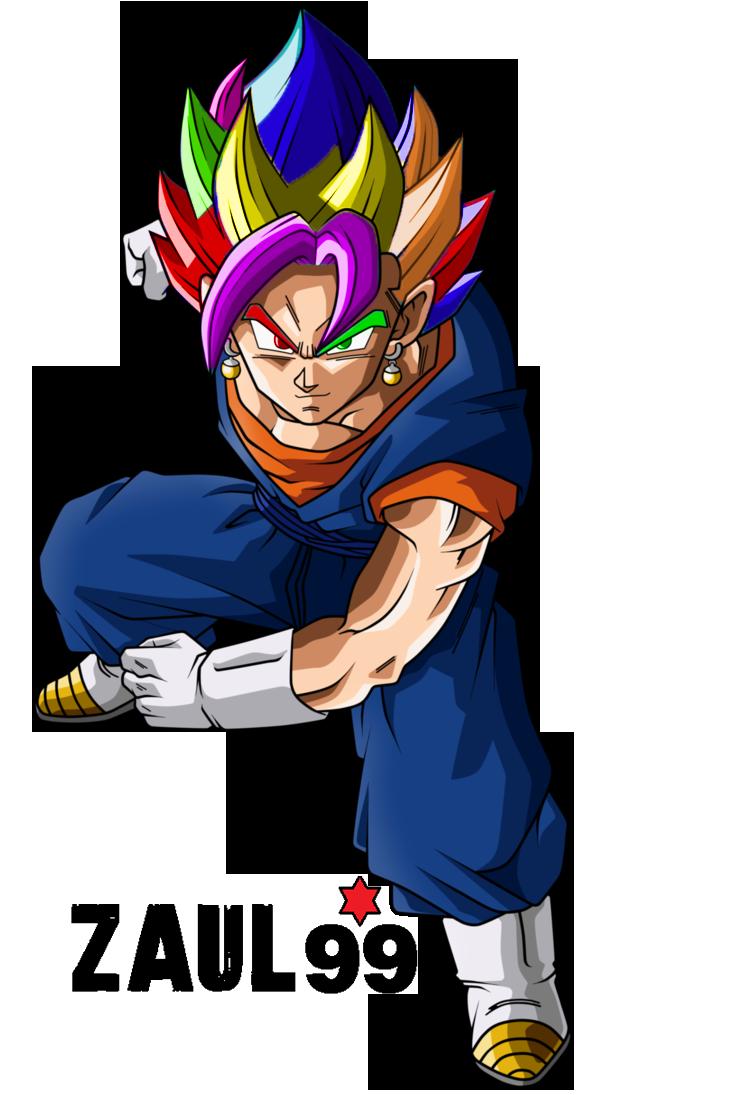 Vegetto Arcoiris By Zaulxd Dragon Ball Artwork Anime Dragon Ball Dragon Ball Art