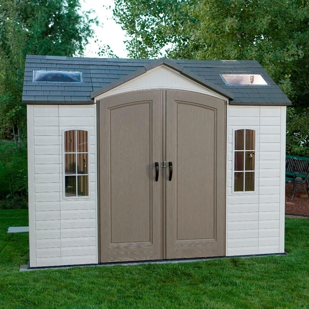 Lifetime 10 ft. x 8 ft. Outdoor Garden Shed, Browns / Tans