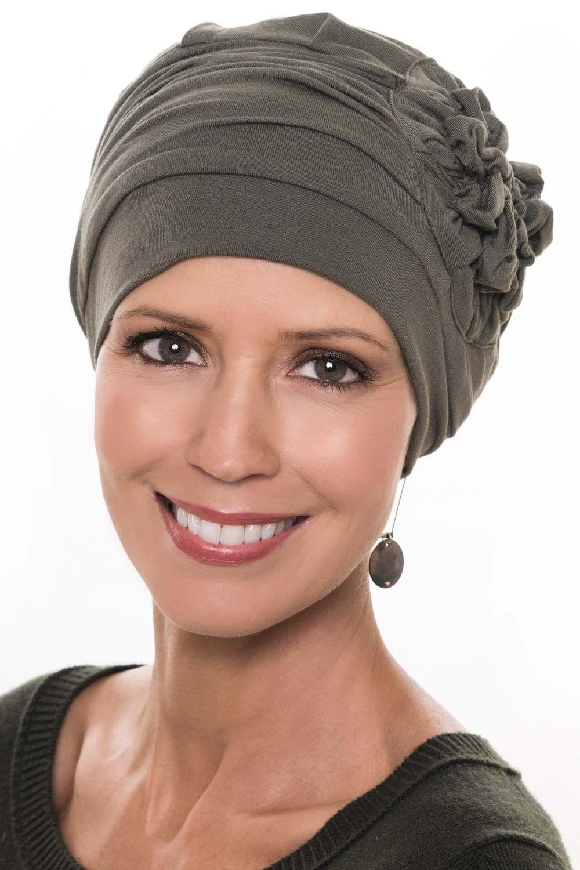 STIRNBAND Chemo Sommer Turban Cap Kopftuch Chemomütze Set Jessy BEANIE MÜTZE