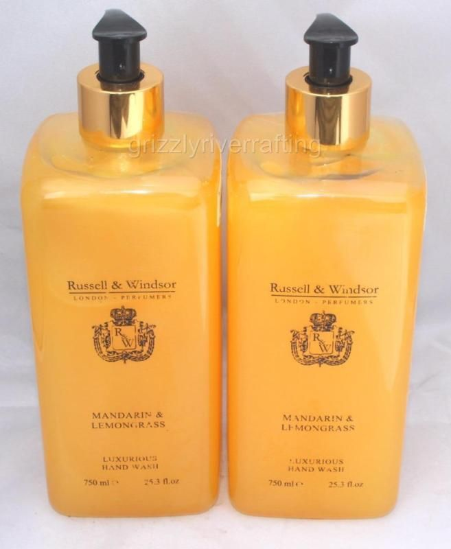 2 Russell Windsor Mandarin Lemongrass Moisturizing Hand Wash