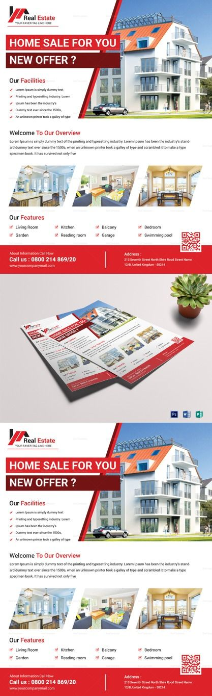 Classic Real Estate Flyer Template Formats Included Ms Word