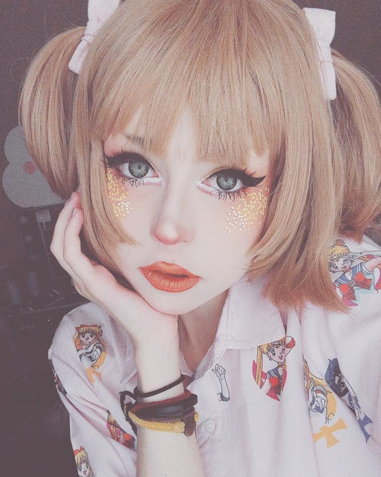 Pin by Emily Moe on Costume/FX makeup Kawaii makeup