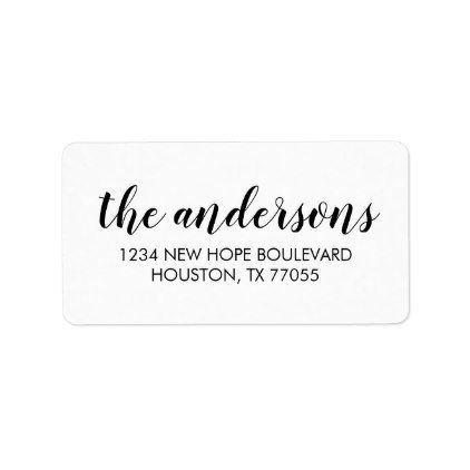 modern typography return address labels in 2018 chic pinterest