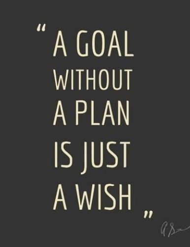 A Goal Without A Plan Is Just A Wish Life Quotes Quotes Quote Life