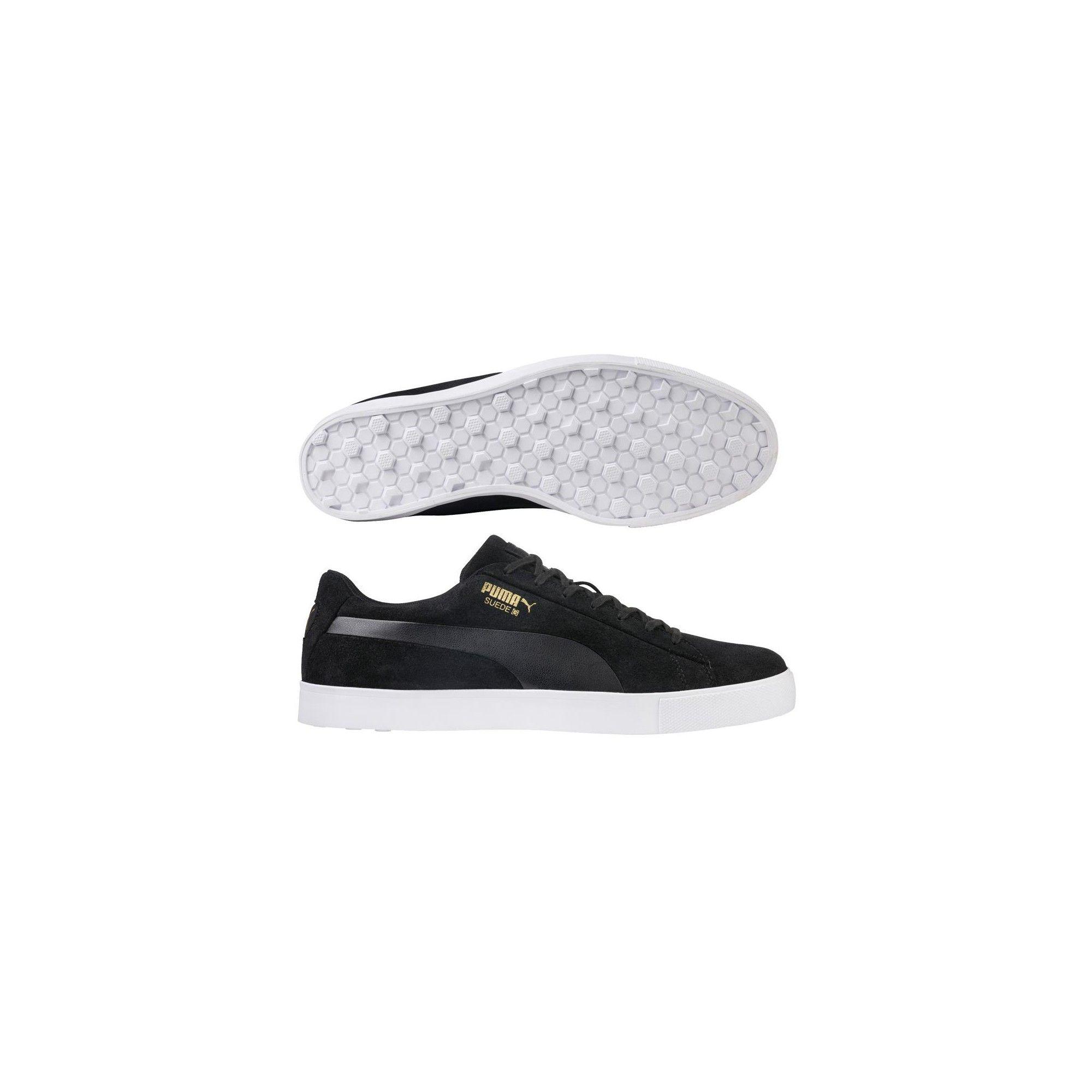 pretty nice a3845 254b8 Men's Puma Suede G Spikeless Golf Shoes Black 11.5 Medium ...