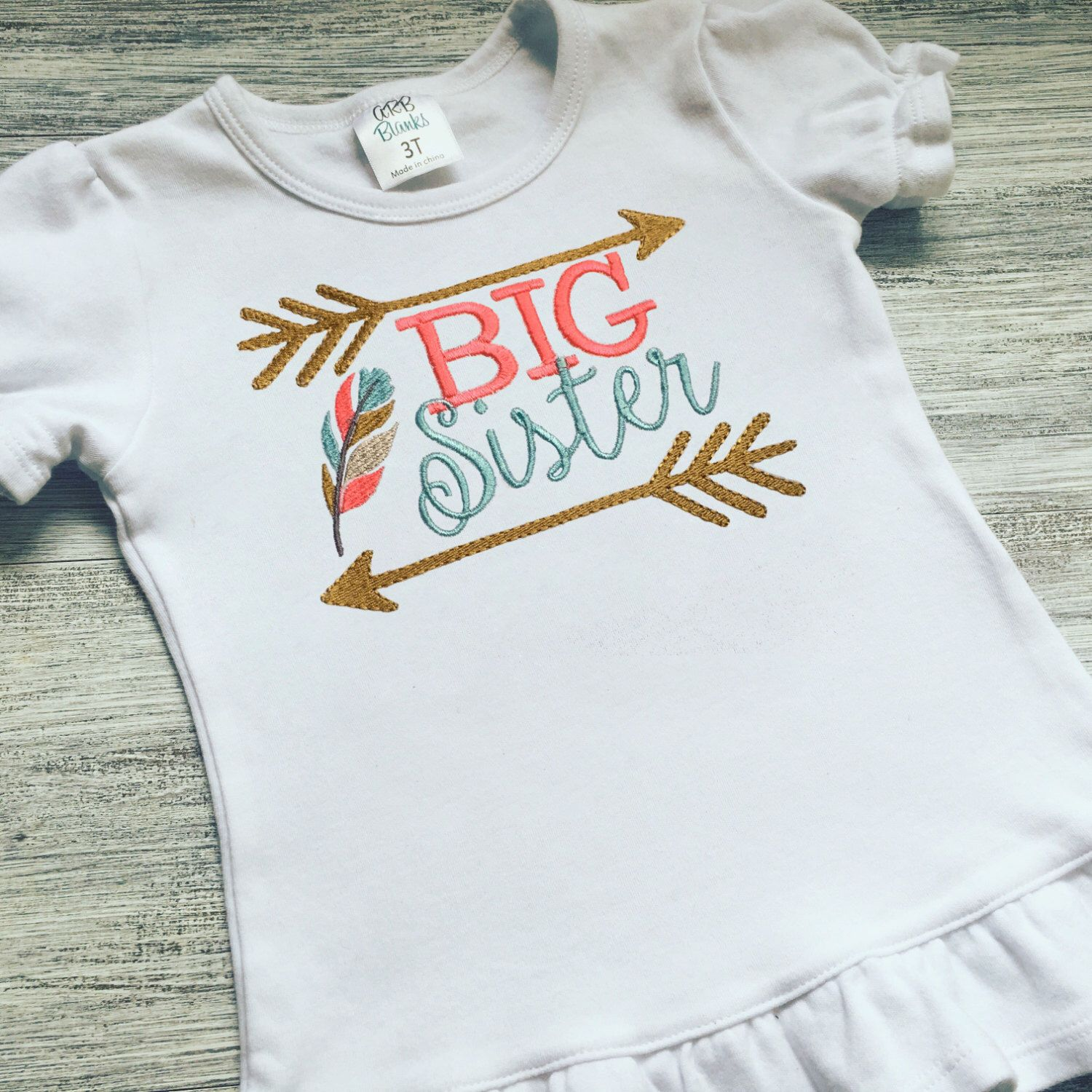 Big Sister Shirt Sibling Shirt Arrow Shirt Pregnancy