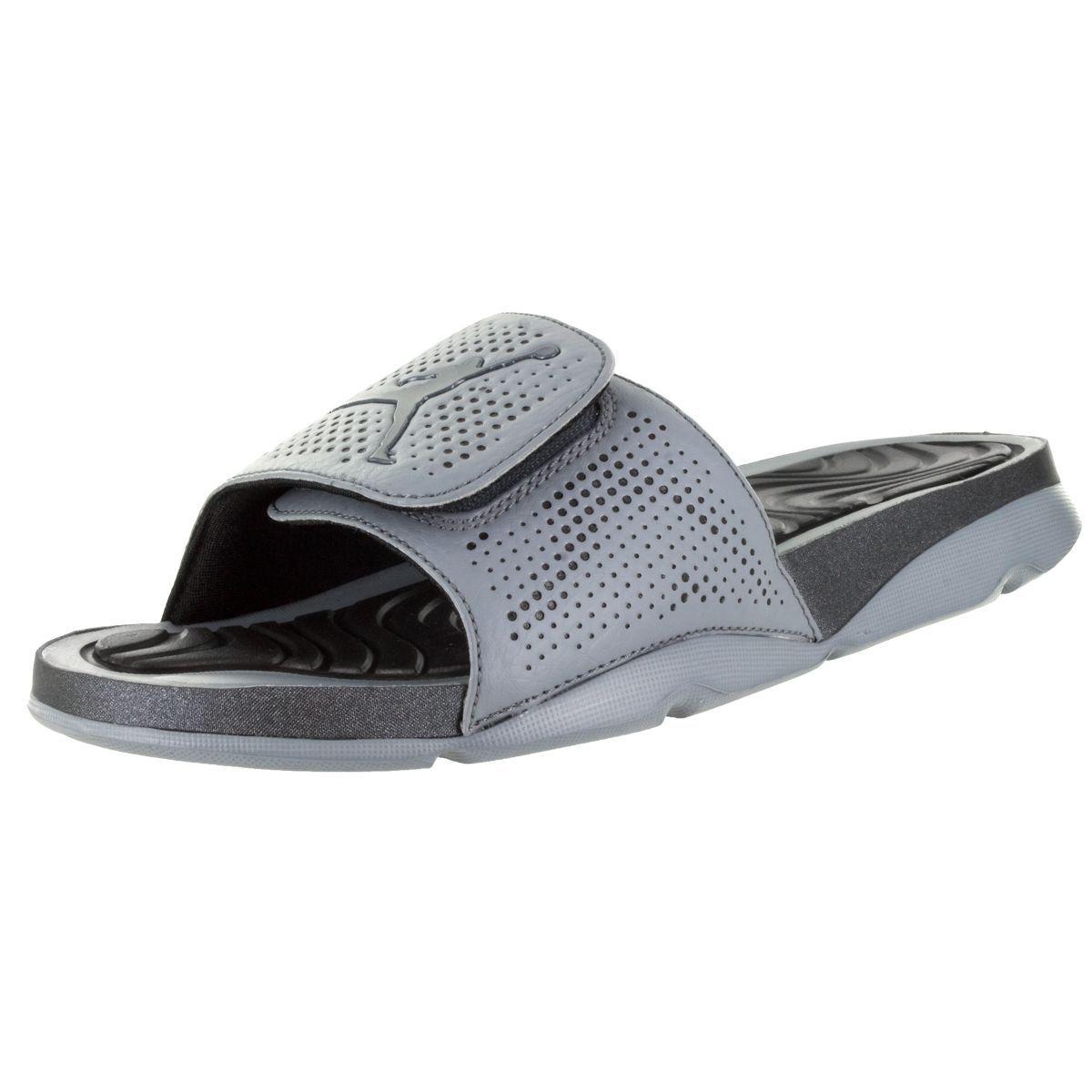 Black jordan sandals - Nike Jordan Men S Jordan Hydro 5 Cool Grey Hematite Black Sandal By Jordan