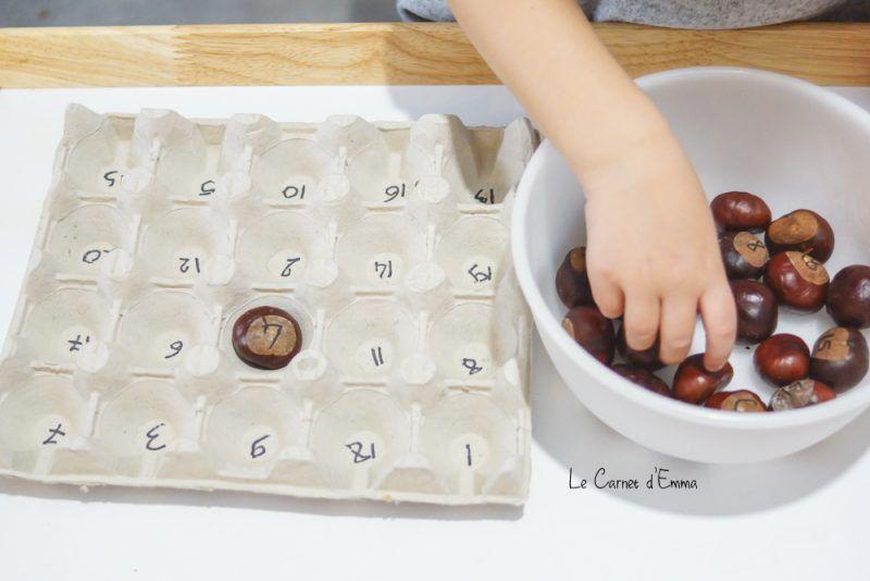 Motricité fine avec des marrons - Le Carnet du0027Emma DIY Pinterest - creer sa cuisine en d gratuit