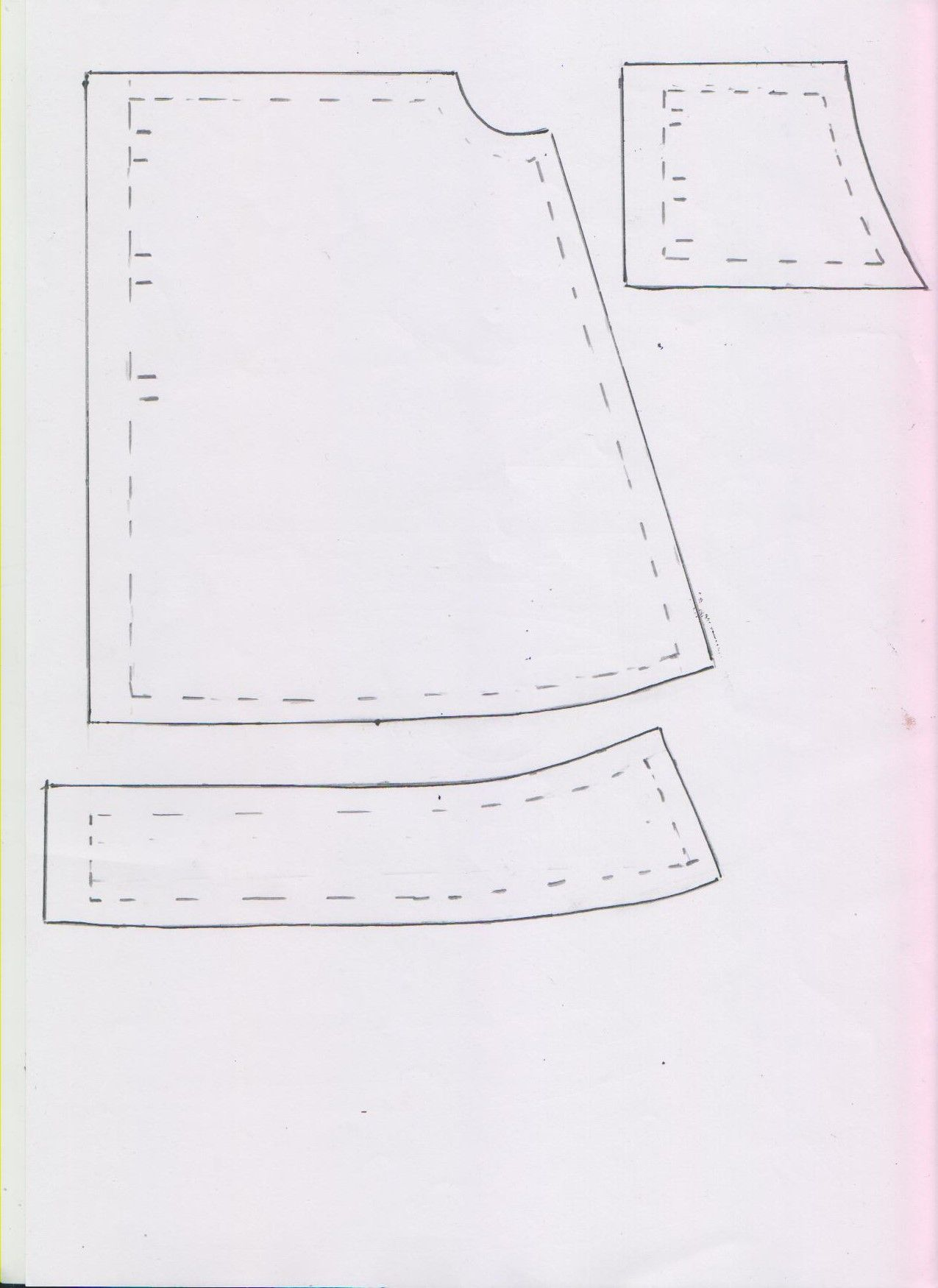 This is the second part (the back) for the denim dress for Baby Born ...