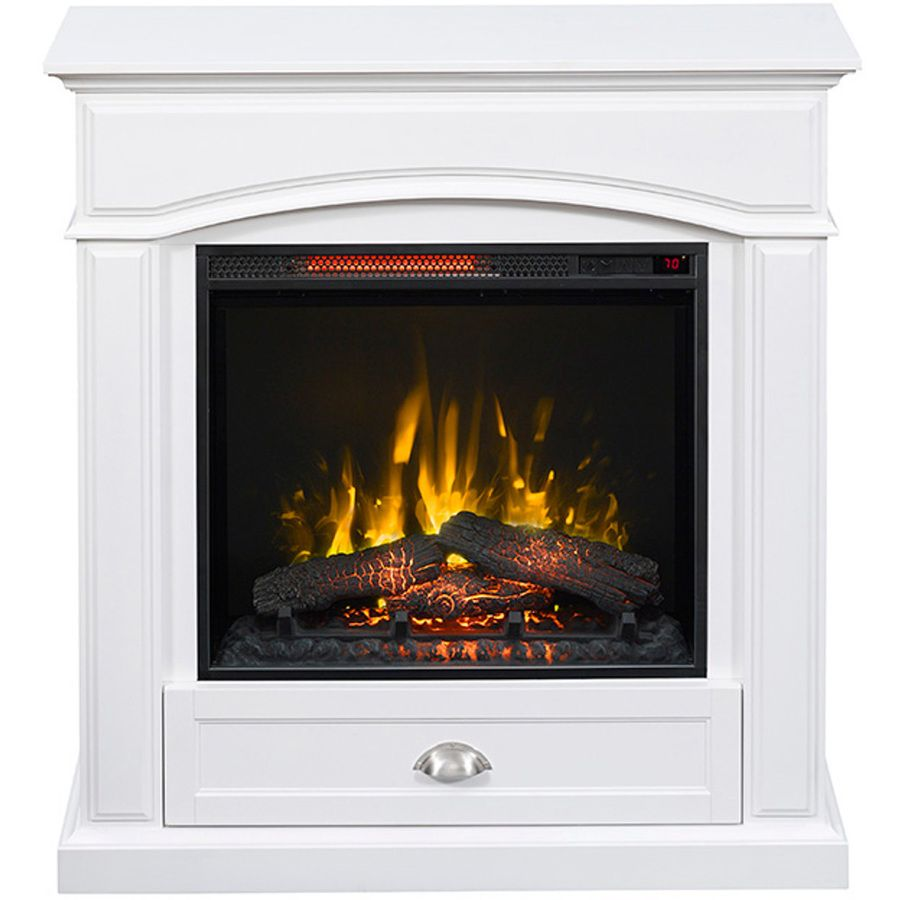 Style Selections 36 5 In W 5 200 Btu White Wood Infrared Quartz