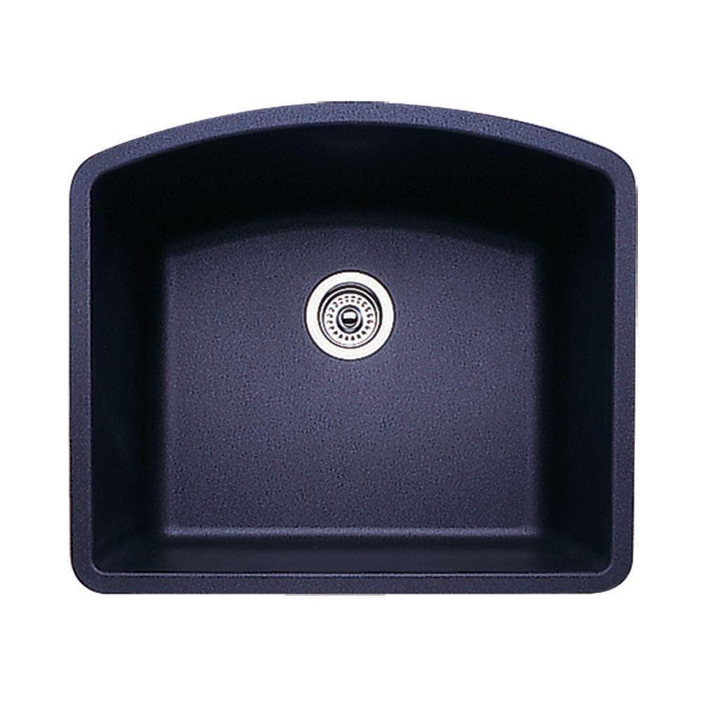 Diamond Undermount Granite in Single Basin Kitchen Sink in