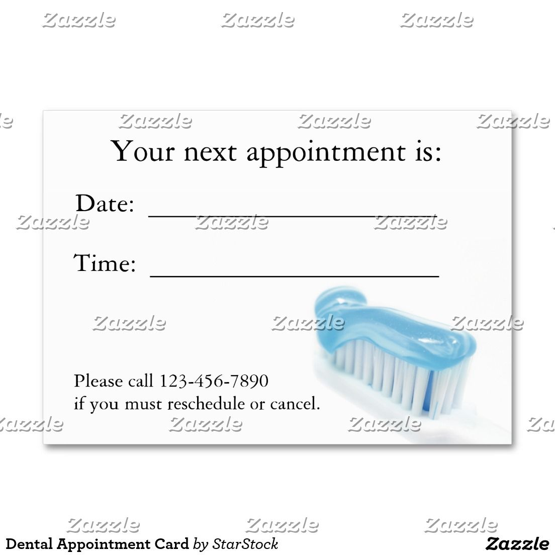 Dental Appointment Card Large Business Card | dental | Pinterest ...