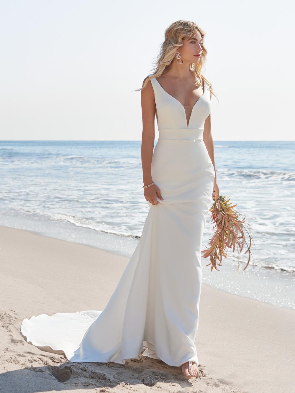Danica By Rebecca Ingram Wedding Dresses And Accessories Crepe Wedding Dress Bridal Elegance Wedding Dresses [ 1333 x 1000 Pixel ]