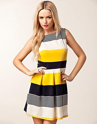 Striped Skater Dress - Ax Paris - New Fashioned