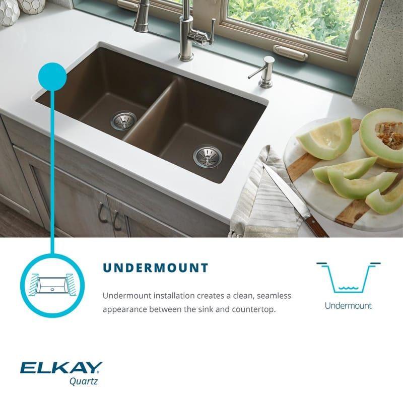 Elkay Elgu3322 Composite Kitchen Sinks Sink Undermount Sink