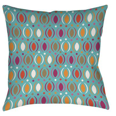 "Manual Woodworkers & Weavers Banias Oval Printed Throw Pillow Color: Teal, Size: 16"" H x 16"" W x 4"" D"