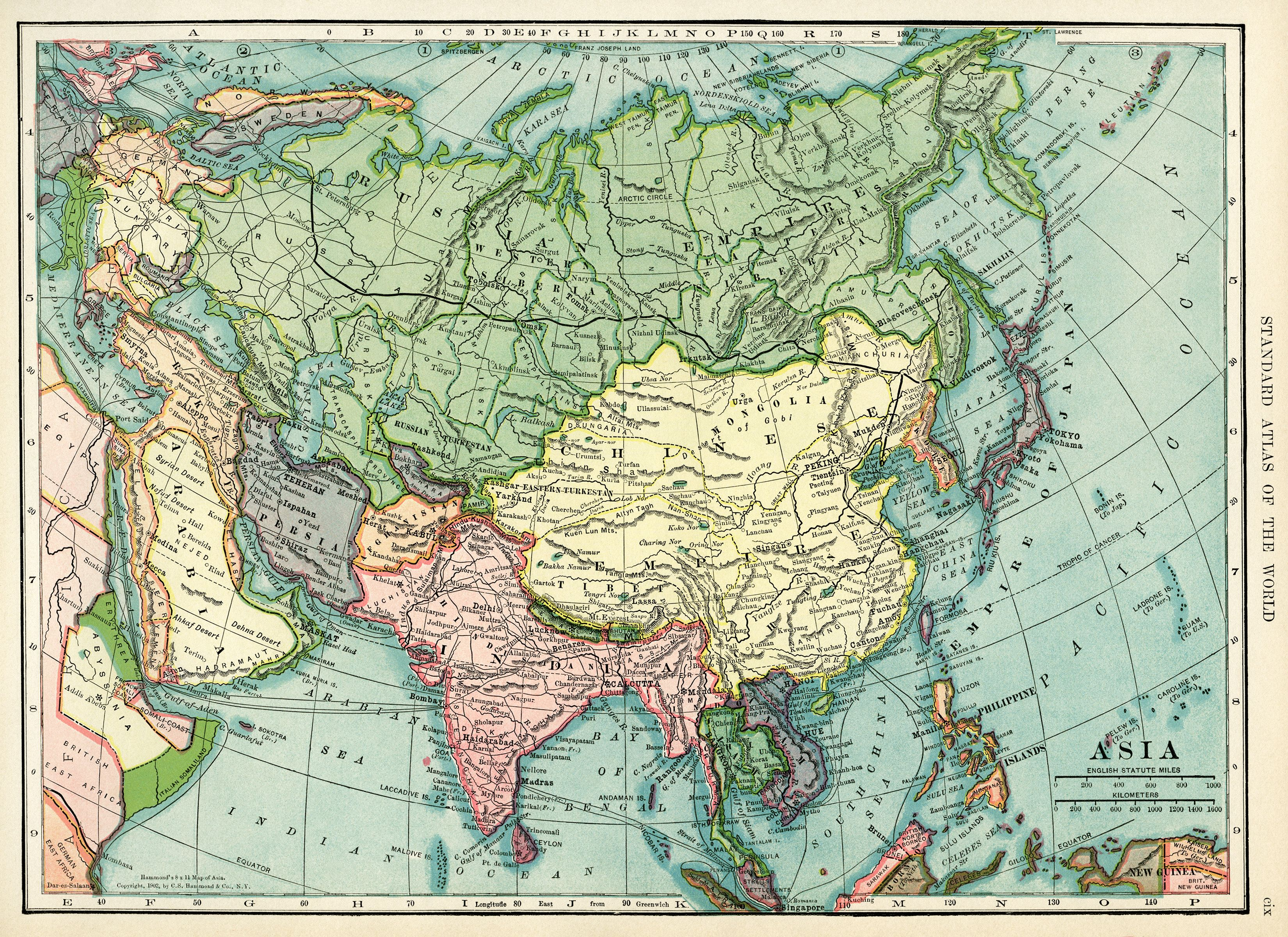 Asia map vintage map download antique map c s hammond history asia map vintage map download antique map c s hammond history geography asia gumiabroncs Gallery