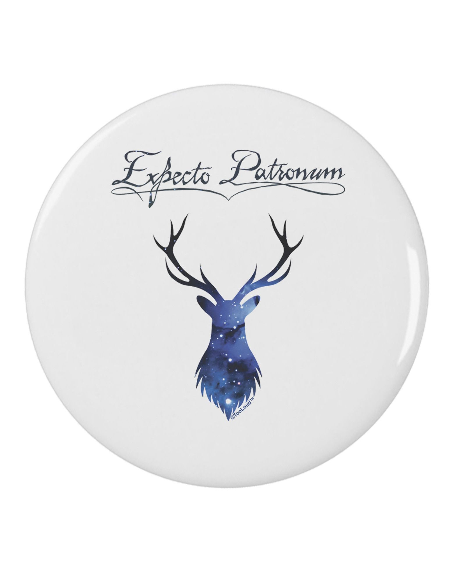 "TooLoud Expecto Patronum Space Stag 2.25"" Round Pin Button"
