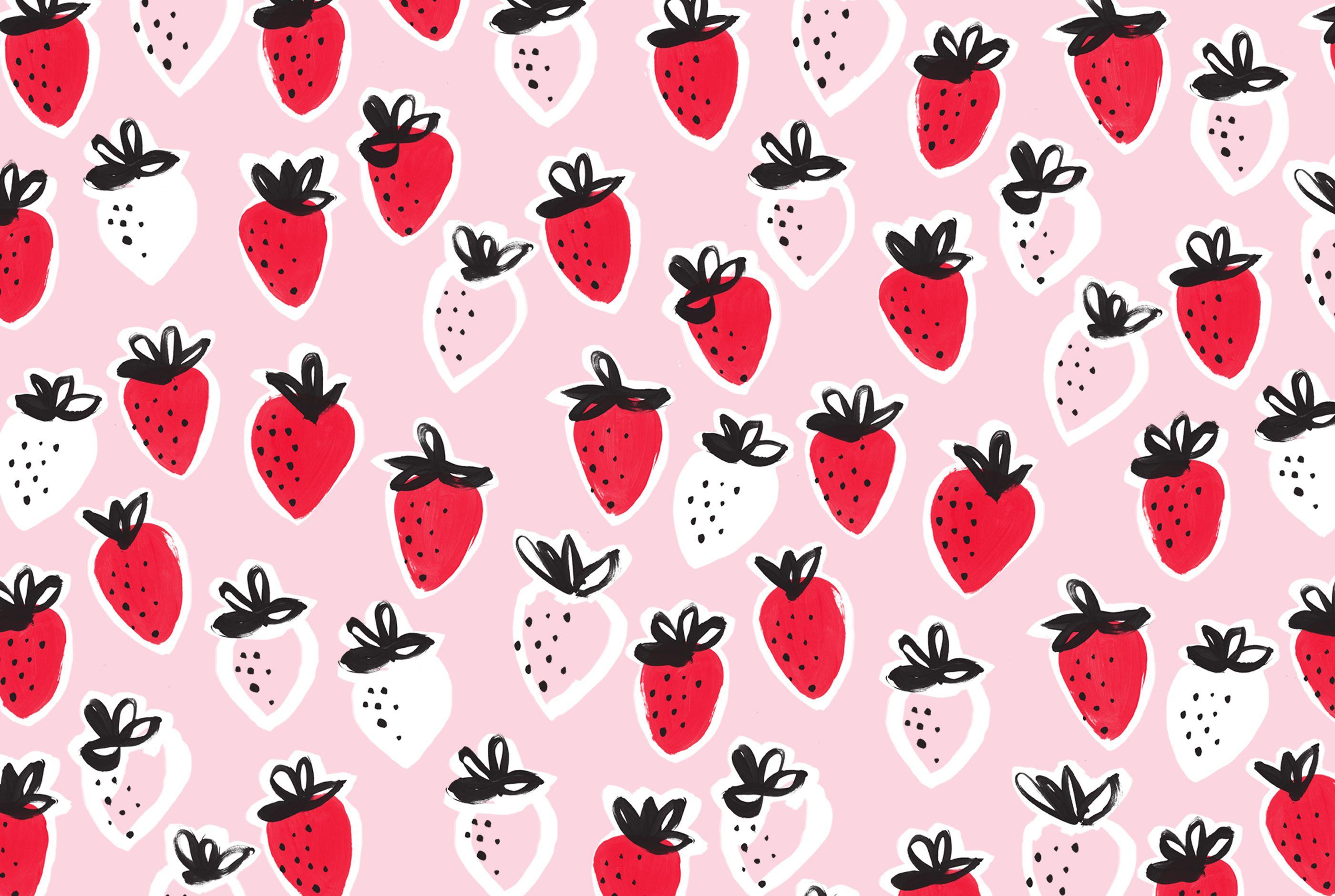 Strawberries Desktop Wallpaper Imac Wallpaper Desktop Wallpaper Design Desktop Wallpaper