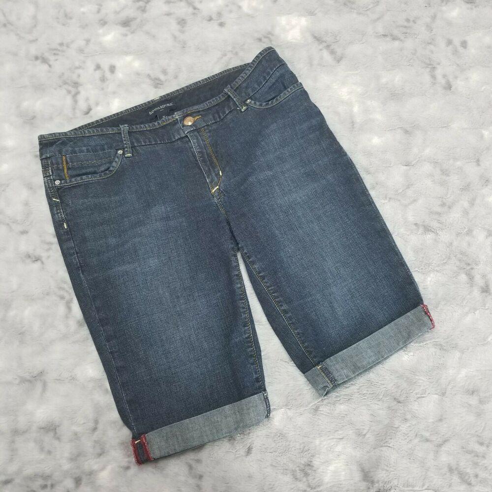 46b7578dac (eBay Ad) Banana Republic Women's Denim Blue Jean Bermuda Shorts Size 10 12