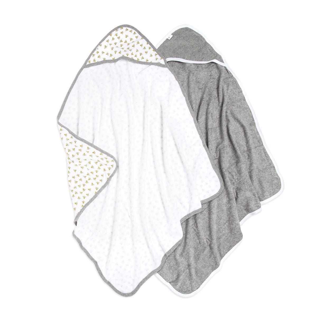 Baby Single Ply Honey Bee Organic Hooded Towel 2 Pack Hooded Baby Towel Baby Hooded Bath Towel Burts Bees Baby