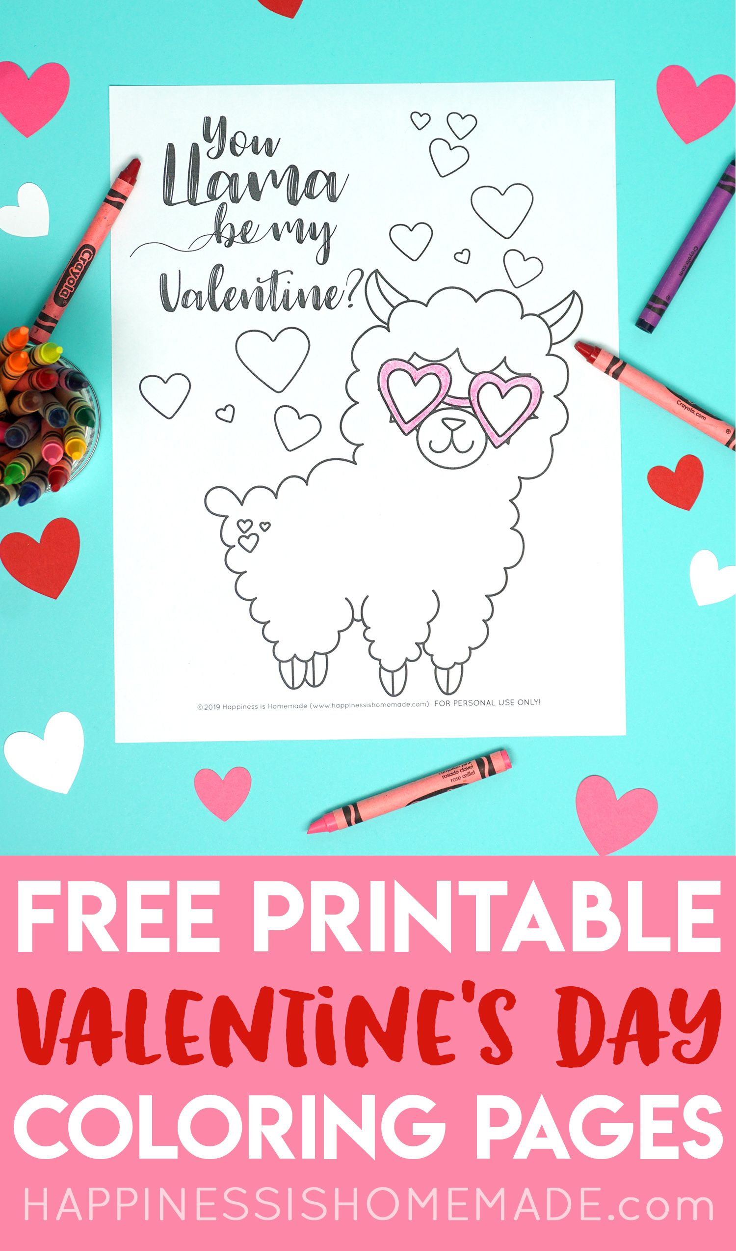 Free Llama Amp Flamingo Valentine Coloring Pages You Re