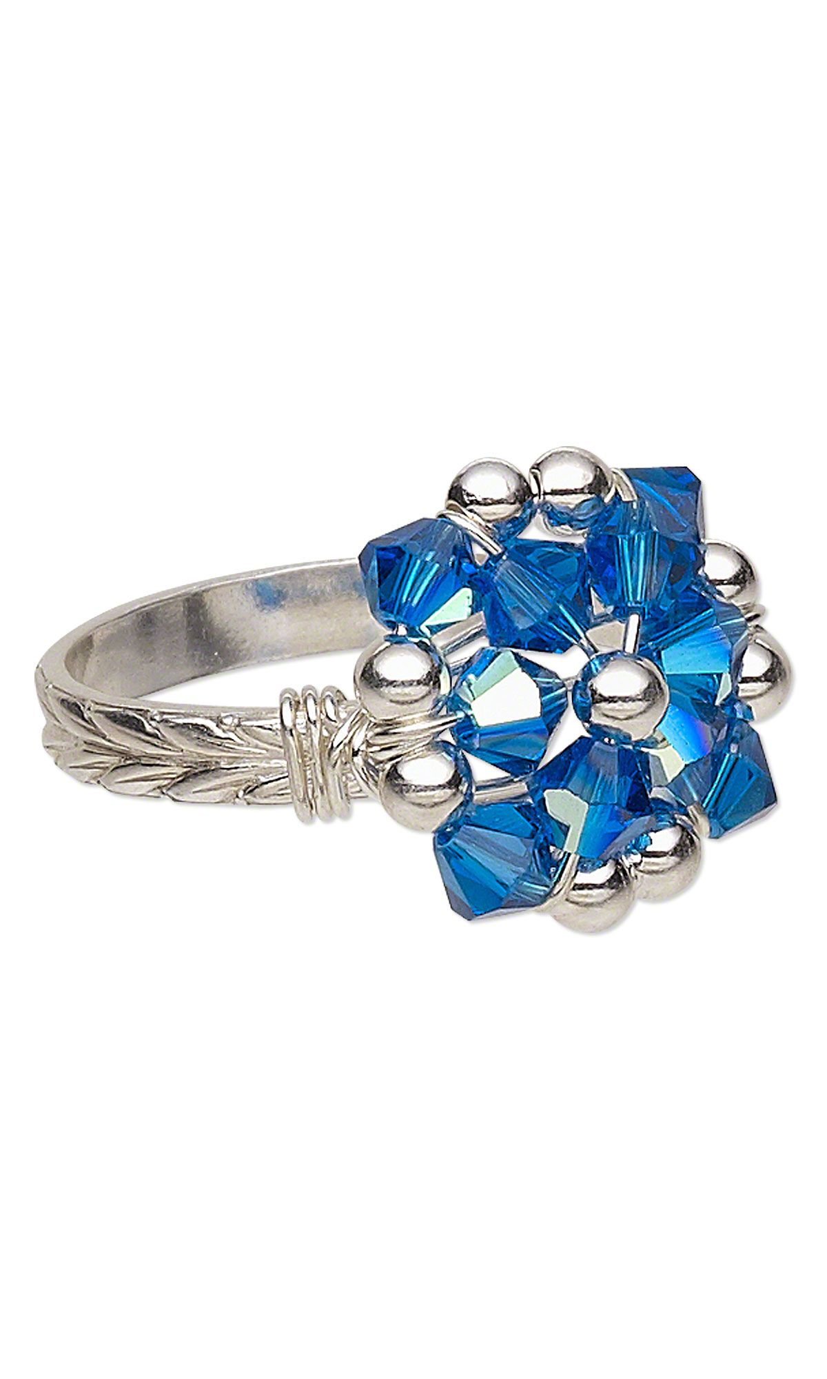 726b462e12a5 Jewelry Design - Ring with Swarovski Crystal Beads